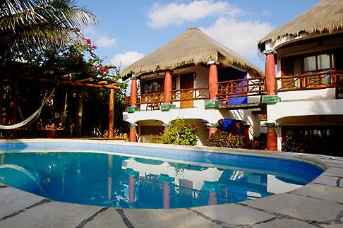 Charmosas cabanas do Ana Y Jose, em Tulum