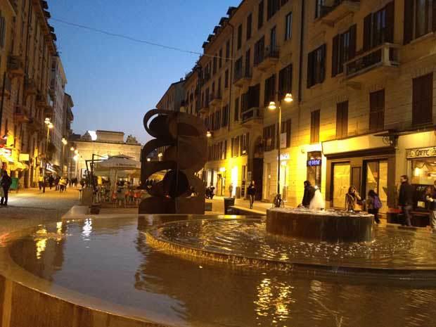 A região de Corso Como, em Milão.